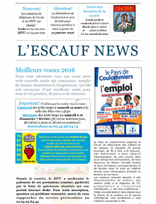 L'Escauf news
